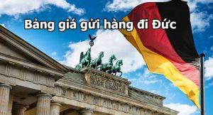 Bảng giá gửi hàng đi Đức cập nhật mới nhất 2020